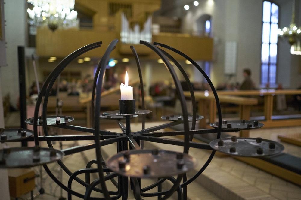 Ljusstaken i Kyrkslätts kyrka