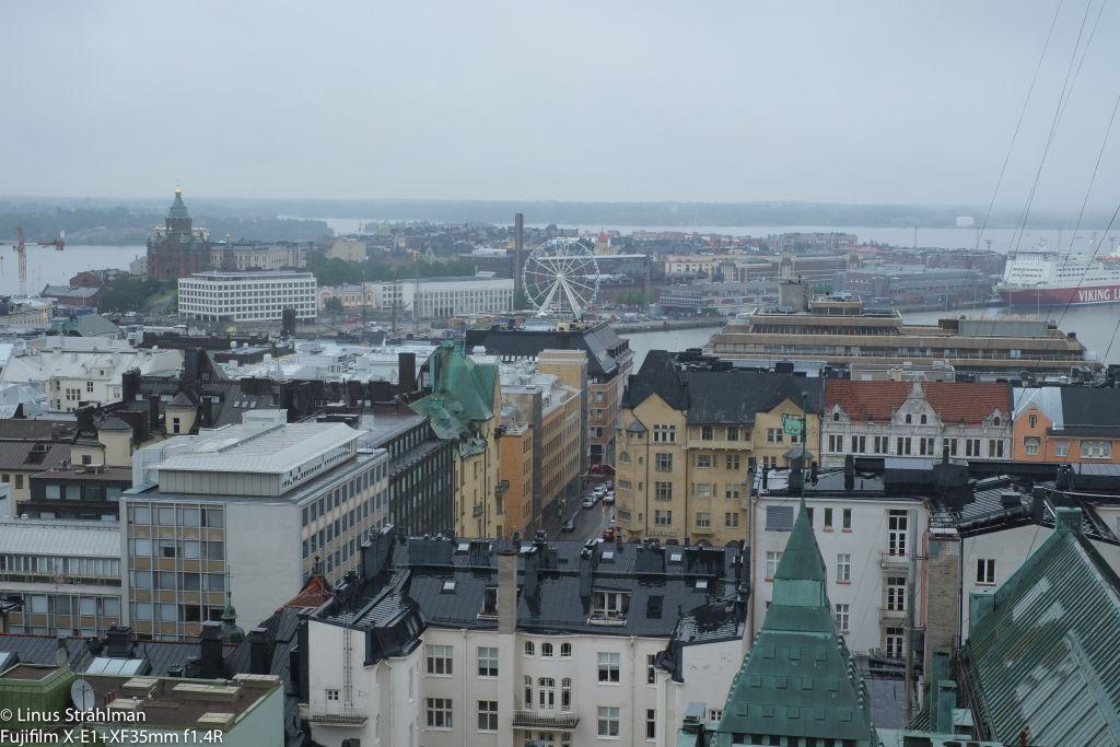 Stad fotograferad uppifrån.