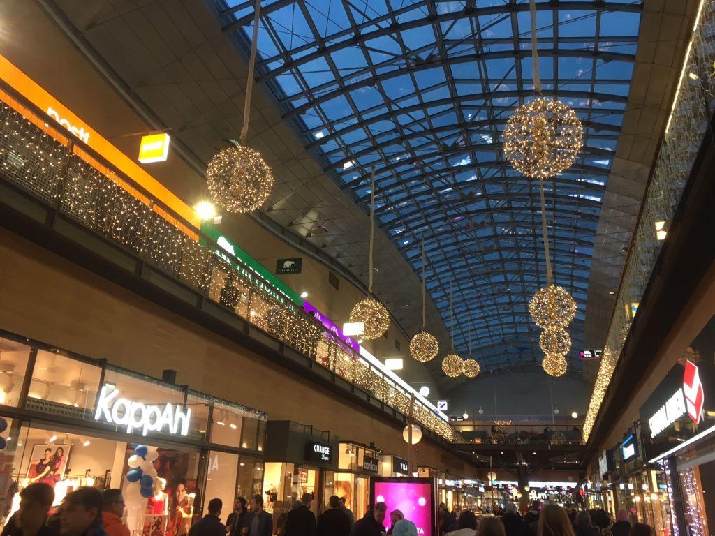 Köpcenter i jultid